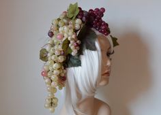 Dionysian Headdress Dionysus wine grapes by Serpentfeathers