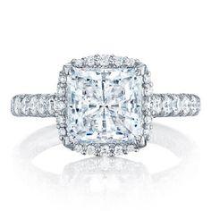 Shop online TACORI HT254725PR8 Vintage 18K - White Gold Diamond Engagement Ring at Arthur's Jewelers. Free Shipping