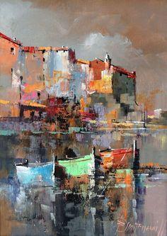 Branko Dimitrijevic, Storm, Oil on canvas, 35x25cm
