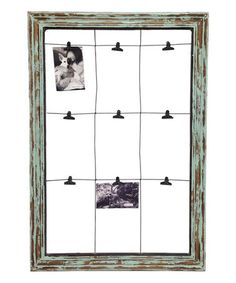 Another great find on #zulily! Wood Window Frame Memo Board #zulilyfinds