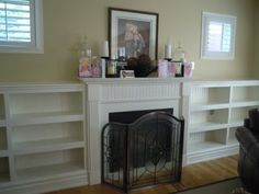 Custom shelves with beadboard back