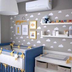Cafofo lindo do JOCA com nossos ADESIVOS KIT NUVENS: 40 unid de 9cm x 5cm cada e 15 unid de 13,5cm x 7,5cm R$89,70 e com FRETE GRATIS!!! ☁️ Compre aqui: www.mooui.com.br☁️ Projeto da @julianaagner_arquitetura