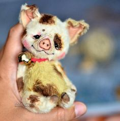SALE Pig toy Chin-Chin pink Artist Teddy piglet piggy bear