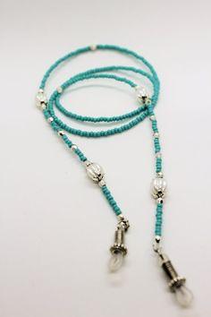 Beaded Jewelry, Beaded Necklace, Lanyard Necklace, Fake Glasses, Eyeglass Holder, Eyeglasses, Chain, Etsy, Meraki