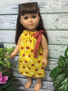 18 Doll Clothes Ladbybug Pillowcase Doll by sassydollcreations