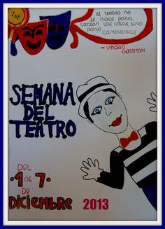 Semana del teatro 2013. Cartel ganador