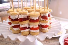 Strawberry Shortcake Appetizer Recipe - Your guests will keep coming back for more of these delicious appetizers.