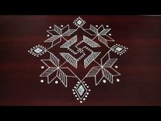 simple and beautiful rangoli designs 8 with dots Rangoli Designs Diwali, Kolam Designs, Simple Rangoli, Padi Kolam, Muggulu Design, Rangoli With Dots, Beautiful Rangoli Designs, Saree Blouse Designs, Floor Design