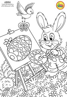 Easter coloring pages - Uskrs bojanke za djecu - Free printables, Easter bunny, eggs, chicks and more on BonTon TV - Coloring books #uskrs #bojanke #easter #coloringpages #coloringbooks #printables