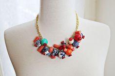 DIY Necklace  : DIY Simple Beaded Statement Necklace