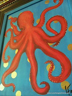 octopus painting. Now that's fun! - inspiration