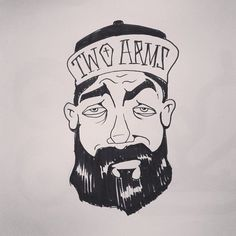 Trying to make rules to draw more (via @katebingburt) Sorry @twoarmsinc for this, but at least I gave you a burly beard to make up for the illustration.