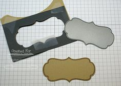 Tutorial for making a template to die cut stamped images.