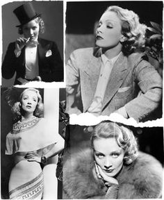 30's Fashion Icons - Fashion Project Marlene Dietrich