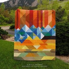 Welcome to Colorful Colorado - PDF Quilt Pattern Quilt Baby, Modern Quilt Patterns, Quilt Patterns Free, Modern Quilting, Loom Patterns, Nancy Zieman, Colorado, Quilting Projects, Quilting Designs