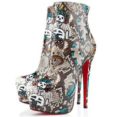 Christian Louboutin Daf 160mm Python Ankle Boots Roccia. Only $139.00