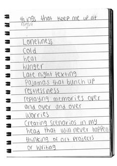 things that keep me up at night.