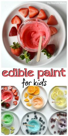 Kids Edible Paint for Kids! It's as yummy as it looks!Edible Paint for Kids! It's as yummy as it looks!Paint for Kids Edible Paint for Kids! It's as yummy as it looks!Edible Paint for Kids! It's as yummy as it looks! Sensory Activities, Craft Activities For Kids, Infant Activities, Edible Sensory Play, Art Party Activities, Arts And Crafts For Kids Toddlers, Baby Sensory Play, Nutrition Activities, Kids Crafts