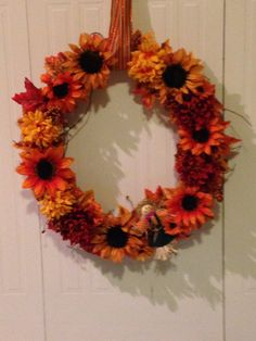 Fall wreath I made for my apartment door