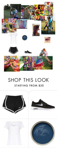 """Paint fight with bf's and bff's"" by haleigh-hamm ❤ liked on Polyvore featuring NIKE, American Vintage, women's clothing, women, female, woman, misses and juniors"