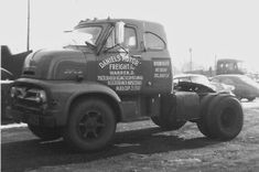 """Aftermarket modification doesn't look quite right. """"Big Job C-model. Shot by Neil Sherff. 56 Ford Truck, Old Ford Trucks, Chevy Pickup Trucks, Ford Tractors, Big Rig Trucks, Diesel Trucks, Cool Trucks, Semi Trucks, Old Classic Cars"""
