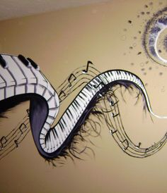 similar to this but art themed? // Music Mural by CryingOutLoudArtw... on @deviantART