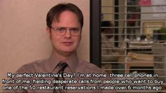 Dwight's plans for Valentine's Day