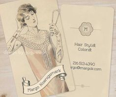 Tattoo Art Deco Business Cards  Calling Cards Vintage by GoGoSnap, $76.00