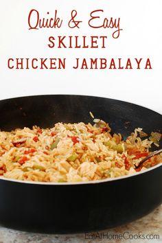Quick and Easy Skillet Chicken Jambalaya