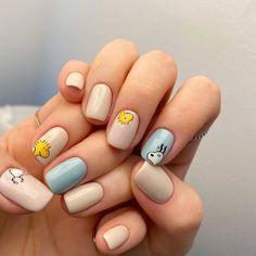 Simple Acrylic Nails, Fall Acrylic Nails, Acrylic Nail Designs, Simple Nails, Nail Art Designs, Disney Acrylic Nails, Short Nail Designs, Edgy Nails, Funky Nails