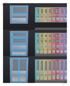 Pixelicious Windows In 9 Pixelicious Colors Includes Med and Tall Recolors Download Merged Package Here Made with Sims 4 Studio