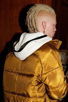 Pigalle AW15 Mens Golden Puffer Jacket Flannel Hood