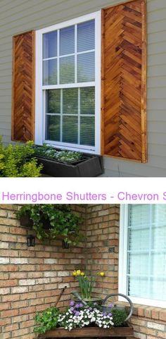 Modern Shutters, Cedar Shutters, Farmhouse Shutters, Rustic Shutters, Repurposed Shutters, Wood Shutters, Shabby Chic Decor, Rustic Decor, Porch Decorating