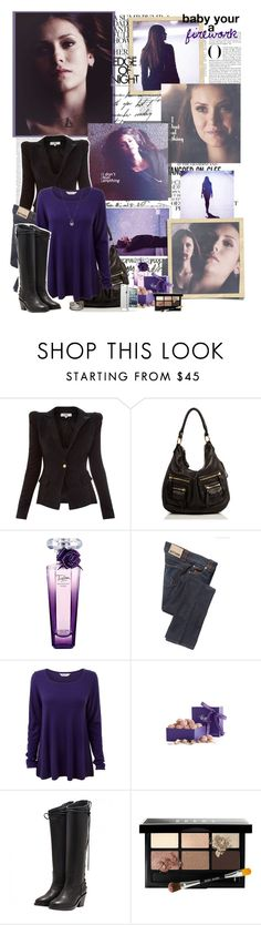 """Elena Gilbert-I don't feel anything"""" by mery90 ❤ liked on Polyvore featuring Gwyneth Shoes, Linea Pelle, Lancôme, Galliano, EAST, Vosges, Haider Ackermann, Bobbi Brown Cosmetics and DANNIJO"