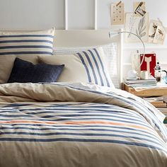 Playa Stripe Duvet Cover + Shams #westelm