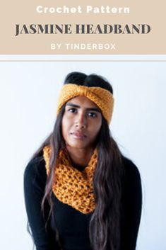 Very easy beginner crochet pattern for a super quick, yet feminine and classic looking headband. Written for a adult woman's head size but is easily adjusted for other sizes. Easy Beginner Crochet Patterns, Crochet For Beginners, Crochet Headband Pattern, Crochet Fall, Crochet Designs, Headbands, Essentials, Feminine, Hats