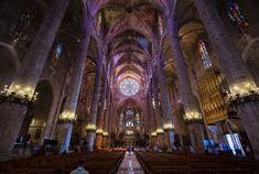 La Seu - Catedral-Basílica de Santa María de Mallorca Santa Maria, Barcelona Cathedral, Spain, Explore, Architecture, Building, Travel, Holy Mary, Arquitetura