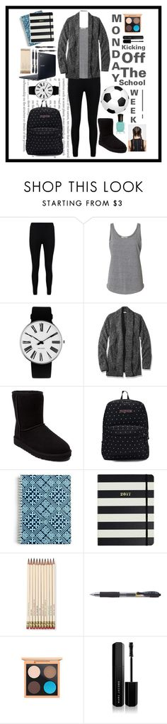 """Monday"" by panda59 ❤ liked on Polyvore featuring Boohoo, Rosendahl, L.L.Bean, UGG, JanSport, Vera Bradley, Kate Spade, Samsung, MAC Cosmetics and Marc Jacobs"