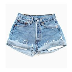 High waisted Denim Shorts (91 BRL) ❤ liked on Polyvore featuring shorts, bottoms, pants, short, short shorts, high waisted shorts, high-waisted denim shorts, denim shorts and high waisted short shorts