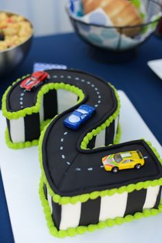 If we do a cars themes birthday? For his own personal cake ? If we do a cars themes birthday? For his own personal cake ? 2 Year Old Birthday Cake, Number Birthday Cakes, 2nd Birthday Boys, Race Car Birthday, Number Cakes, Cars Birthday Parties, Car Birthday Cakes, Birthday Ideas, Car Party Themes