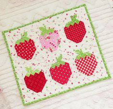 Luscious Strawberries Make a Lovely Quilt - Quilting Digest