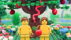 The Brick Testament: Adam en Eva