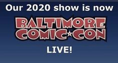 Upcoming Events, Baltimore, Facebook, Comics, Live, Inspiration, Comic Con, Biblical Inspiration, Comic Book