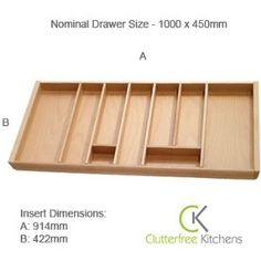 Wooden Cutlery Tray for 1000 Blum drawer