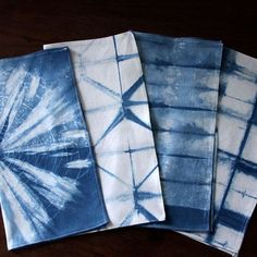 shibori napkins - Google Search  organic indigo napkin set