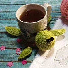 Free amigurumi turtle crochet coaster pattern