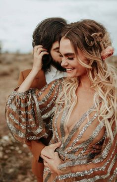 Rose Gold Joshua Tree Wedding Inspiration is Like a Boho Glam Fever Dream Sparkly wedding dress + sparkly gold freckles are boho glam bride essentials Wedding Shoot, Boho Wedding, Destination Wedding, Dream Wedding, Magical Wedding, Glamorous Wedding, Forest Wedding, Woodland Wedding, Wedding Blog