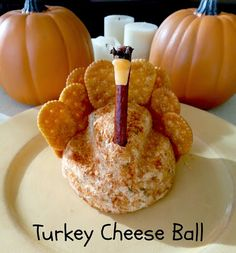"""A """"Turkey"""" Cheese Ball! A perfect #appetizer for any #Thanksgiving meal!"""