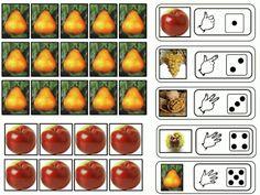 Jeu d'automne à imprimer pour les quantités jusqu'à 5 Grande Section, Petite Section, Autumn Theme, Autumn Art, Cycle 1, Montessori Math, Autumn Activities, Ms Gs, Fruits And Vegetables