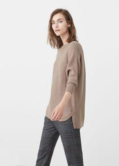 Jersey algodón canalé | MANGO
